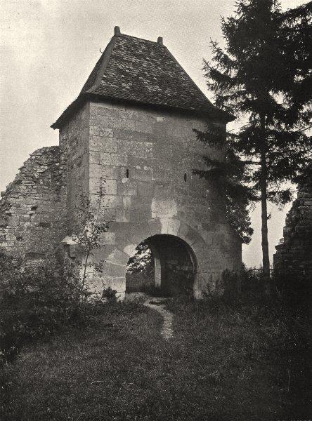 MEUSE. Vaucouleurs- La porte de France 1906 old antique vintage print picture