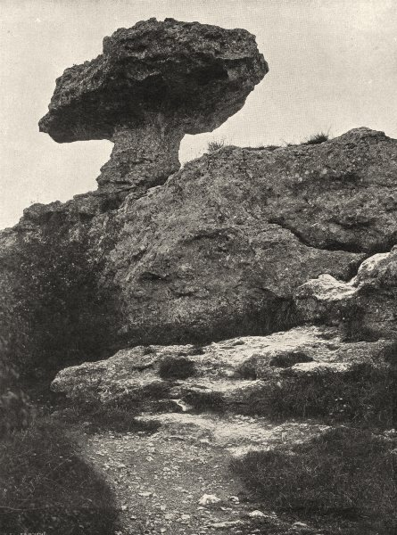 Associate Product MEUSE. Saint-Mihiel- Les falaises de la Meuse 1906 old antique print picture