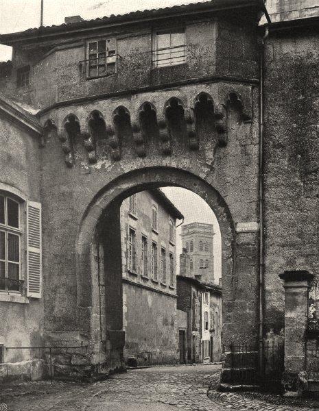 Associate Product MEUSE. Verdun- Porte Châtel 1906 old antique vintage print picture