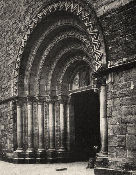Associate Product VOSGES. Épinal- Église. portail 1906 old antique vintage print picture