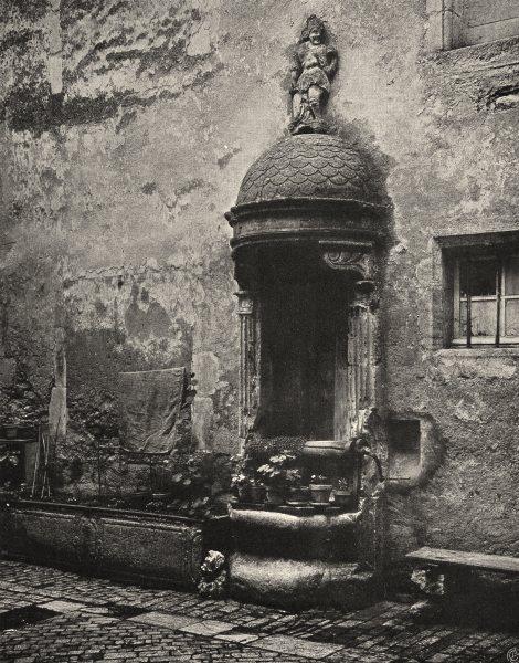 Associate Product VOSGES. Neufchâteau- Puits de I'Hôtel de Ville 1906 old antique print picture