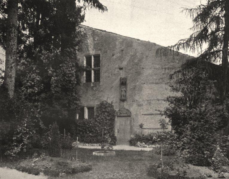 Associate Product VOSGES. Domremy- Maison de Jeanne Dare 1906 old antique vintage print picture