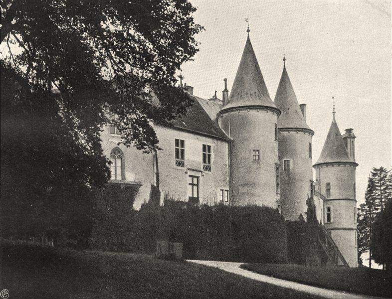 VOSGES. Château de Bourlémont 1906 old antique vintage print picture