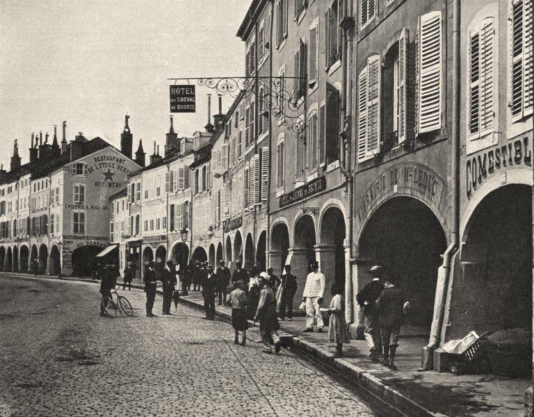 Associate Product VOSGES. Remiremont- Grande- Rue 1906 old antique vintage print picture