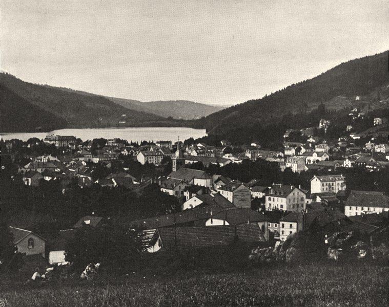 Associate Product VOSGES. Gérardmer- Vue générale 1906 old antique vintage print picture
