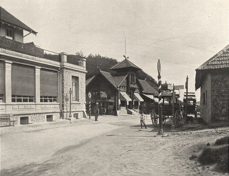 Associate Product VOSGES. Col de la Schlucht 1906 old antique vintage print picture