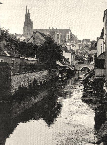 Associate Product EURE-ET-LOIR. L'Eure, à Chartres 1903 old antique vintage print picture