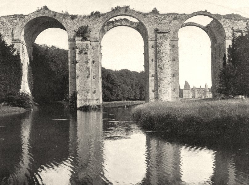 Associate Product EURE-ET-LOIR. Aqueduc de Maintenon 1903 old antique vintage print picture