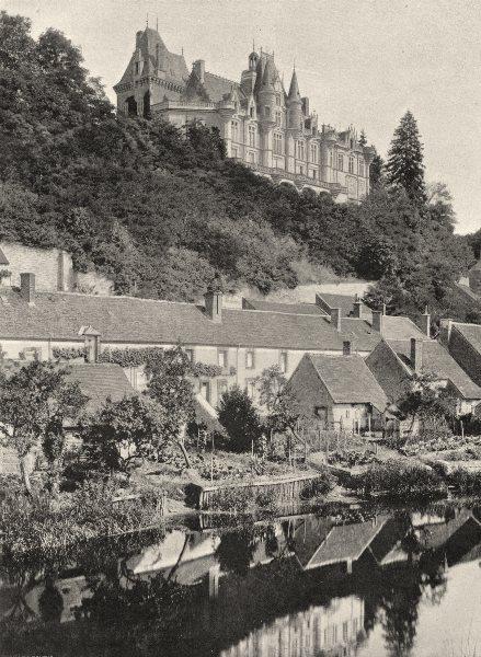 Associate Product EURE-ET-LOIR. Montigny-le-Gannelon 1903 old antique vintage print picture