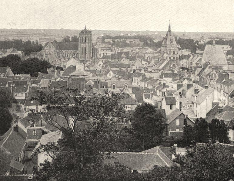 Associate Product EURE-ET-LOIR. Vue générale de Dreux 1903 old antique vintage print picture