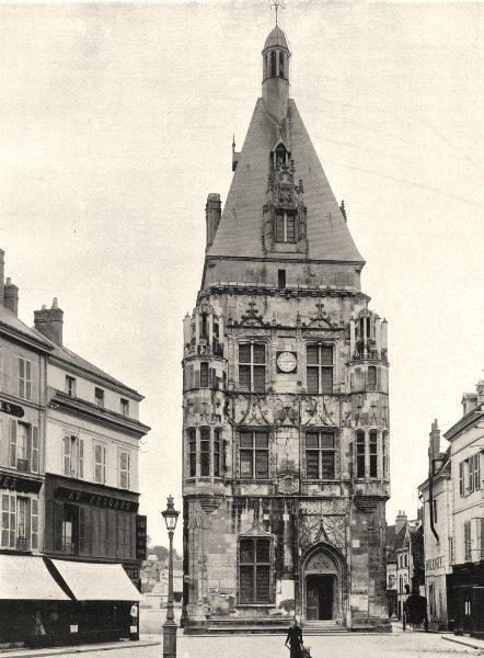 Associate Product EURE-ET-LOIR. Hôtel de ville de Dreux 1903 old antique vintage print picture