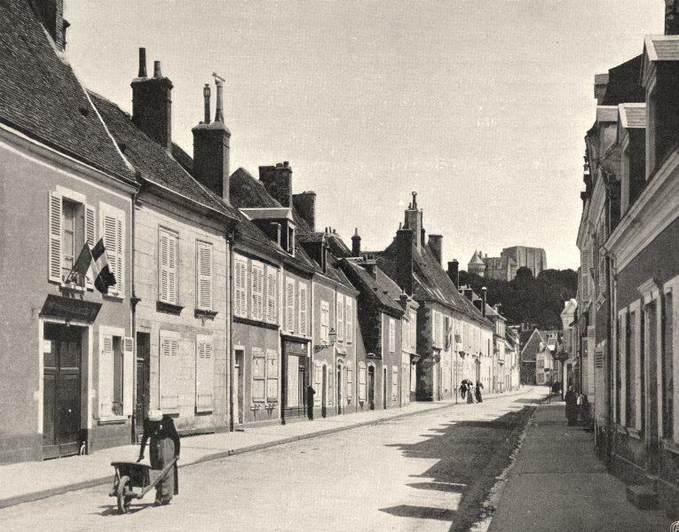 Associate Product EURE-ET-LOIR. La rue Saint-Laurent, à Nogent-le-Rotrou 1903 old antique print