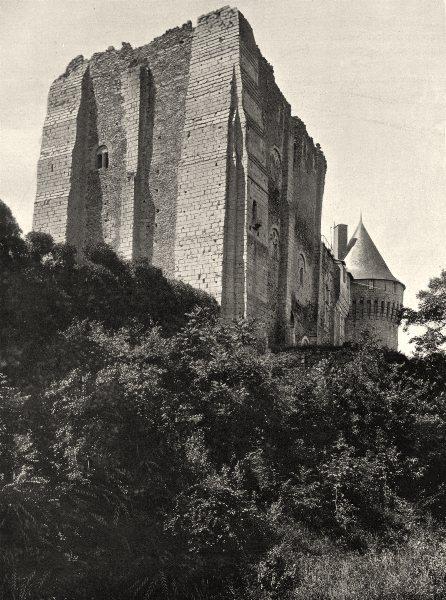 Associate Product EURE-ET-LOIR. Le donjon, à Nogent-le-Rotrou 1903 old antique print picture
