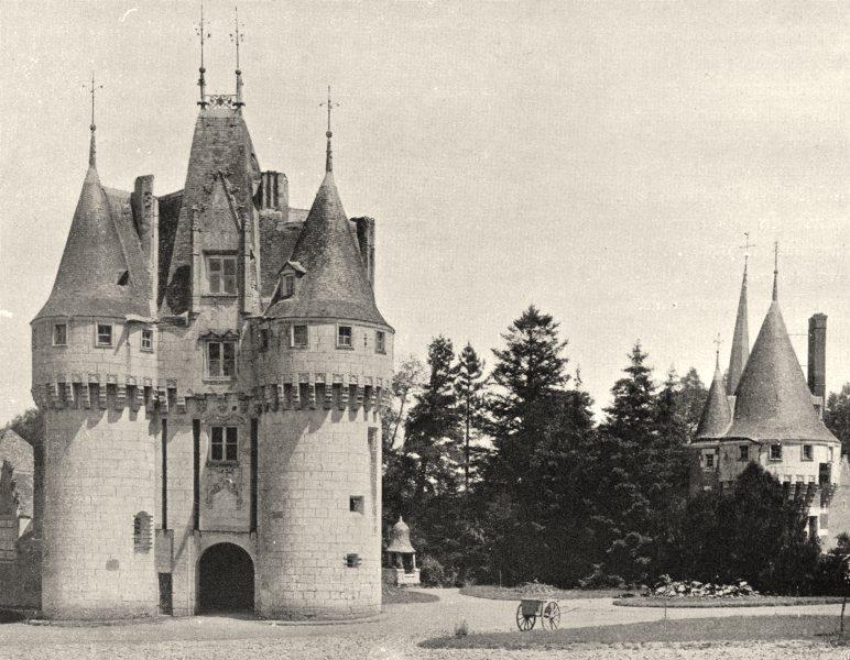Associate Product EURE-ET-LOIR. Château de Frazé 1903 old antique vintage print picture