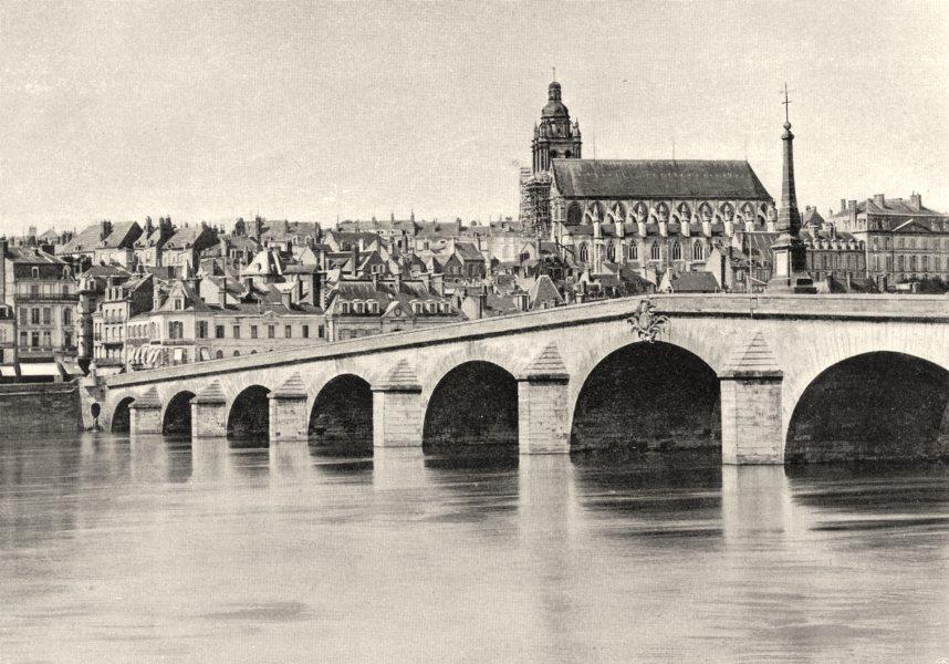 Associate Product LOIR-ET-CHER. Vue générale de Blois 1903 old antique vintage print picture