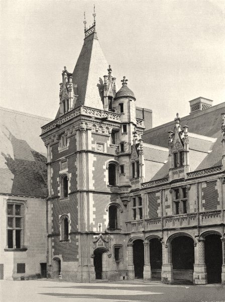 Associate Product LOIR-ET-CHER. Pavillon d'angle, au château de Blois 1903 old antique print
