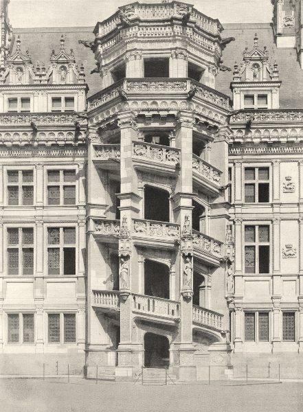 Associate Product LOIR-ET-CHER. L'escalier François Ier, au château de Blois 1903 old print