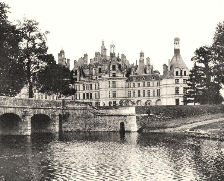 Associate Product LOIR-ET-CHER. Château de Chambord, côte de la rivière 1903 old antique print