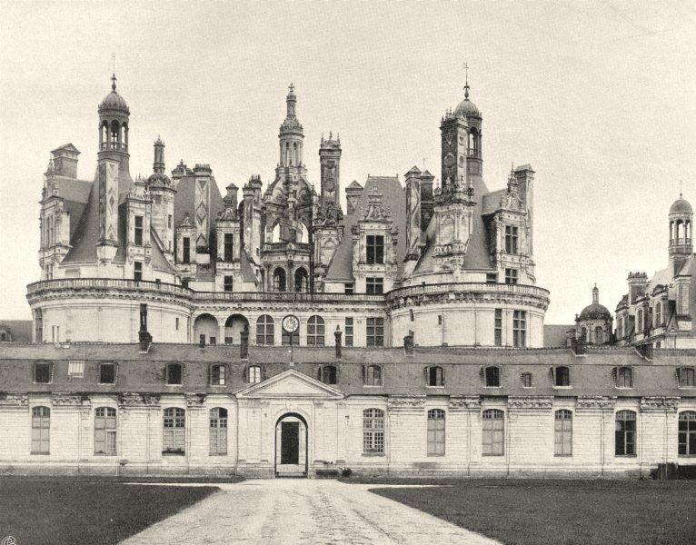 LOIR-ET-CHER. Château de Chambord, côte du pare 1903 old antique print picture