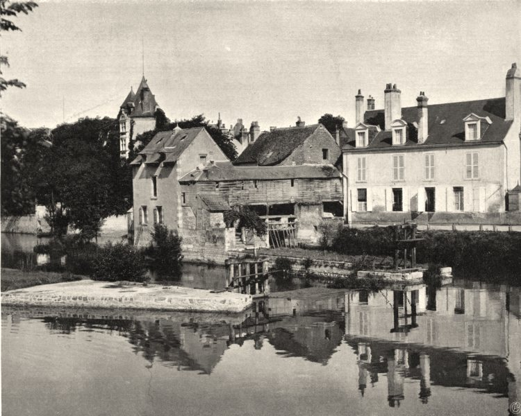 Associate Product LOIR-ET-CHER. Vue générale de Romorantin 1903 old antique print picture