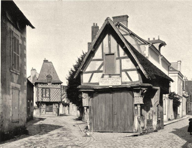 Associate Product LOIR-ET-CHER. Vieilles maisons, à Romorantin 1903 old antique print picture