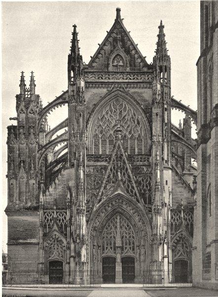 Associate Product LOIR-ET-CHER. Église de la Trinité, à Vendôme 1903 old antique print picture