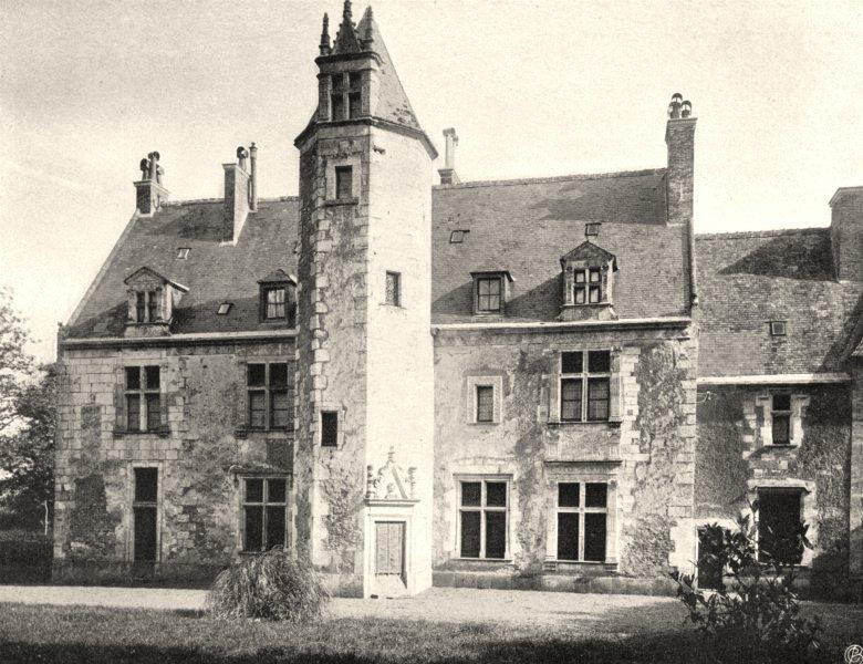 Associate Product LOIR-ET-CHER. Manoir de la Poissonnière 1903 old antique vintage print picture