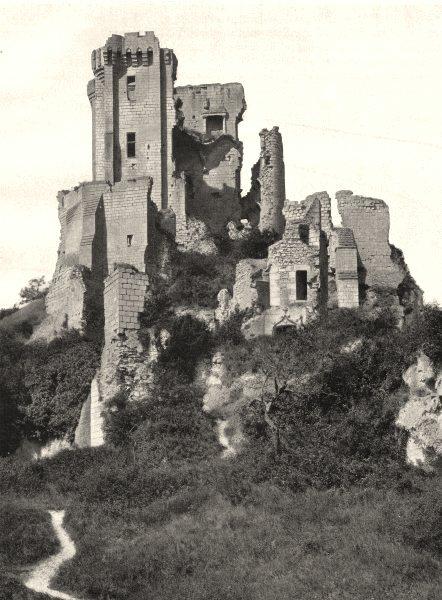 Associate Product LOIR-ET-CHER. Ruines du donjon de Lavardin 1903 old antique print picture
