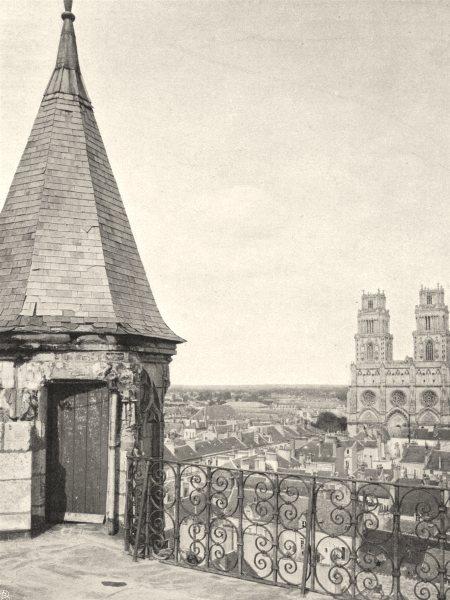 Associate Product LOIRET. Orléans, vue prise de la tour du musée 1903 old antique print picture