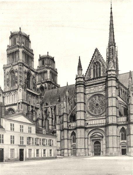 Associate Product LOIRET. Cathédrale d'Orléans 1903 old antique vintage print picture