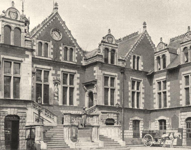 Associate Product LOIRET. Hôtel de ville d'Orléans. SMALL. 1903 old antique print picture