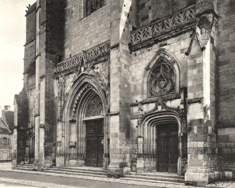 Associate Product LOIRET. Église de Cléry 1903 old antique vintage print picture