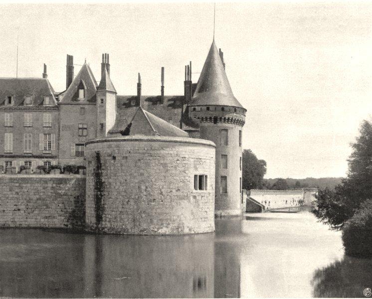 Associate Product LOIRET. Château de Sully-sur-Loire 1903 old antique vintage print picture