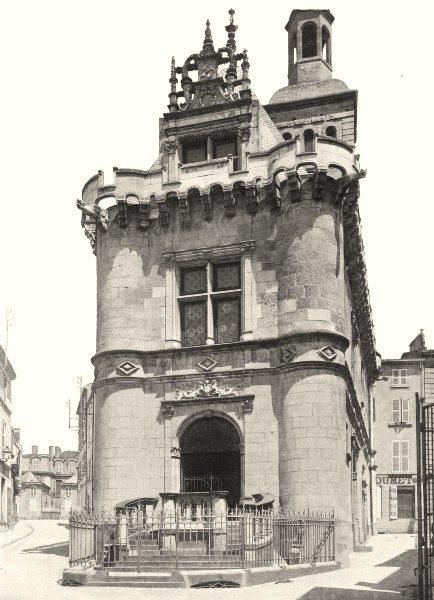 Associate Product DEUX-SÈVRES. Niort- Ancien hôtel de ville 1904 old antique print picture