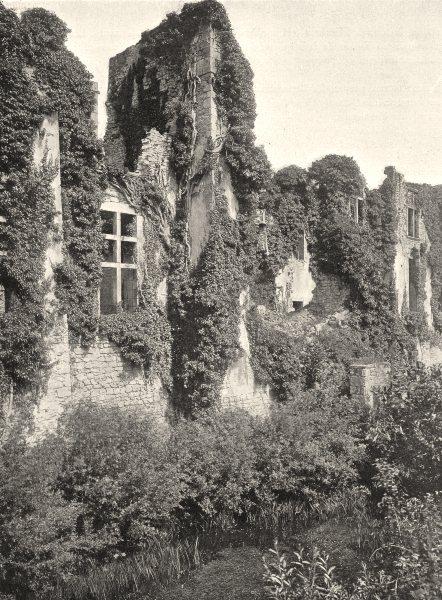 Associate Product DEUX-SÈVRES. Ruines de la Meilleraye 1904 old antique vintage print picture