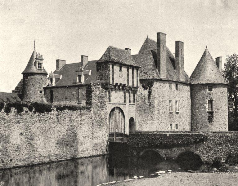 DEUX-SÈVRES. Environs de Parthenay- Château de la Guyonnière 1904 old print