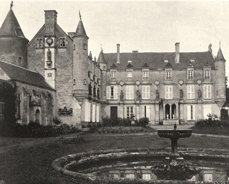 Associate Product VENDÉE. Fontenay-le-Comte- Château de Terre- Neuve 1904 old antique print