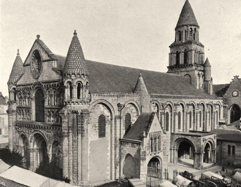 Associate Product VIENNE. Poitiers- Notre- Dame-la-Grande 1904 old antique vintage print picture