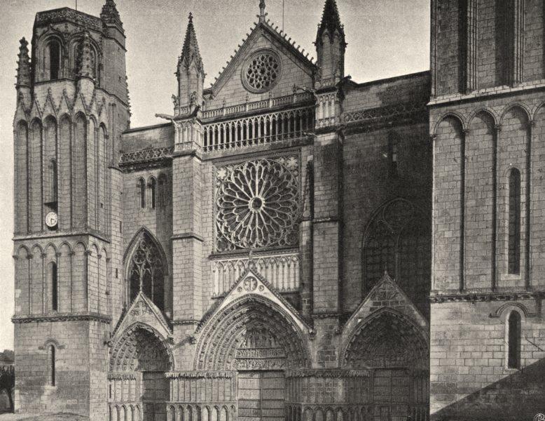 Associate Product VIENNE. Poitiers- Cathédrale 1904 old antique vintage print picture