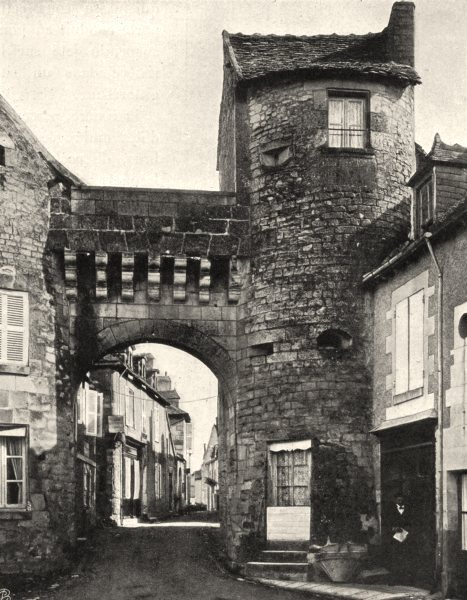 Associate Product VIENNE. La Roche- Posay- Porte 1904 old antique vintage print picture