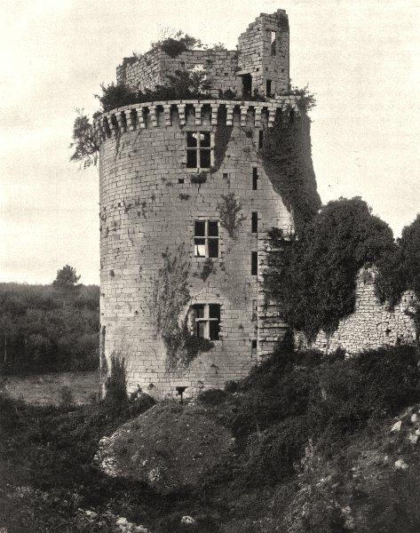 Associate Product MORBIHAN. Château de Largoët, à Elven 1903 old antique vintage print picture