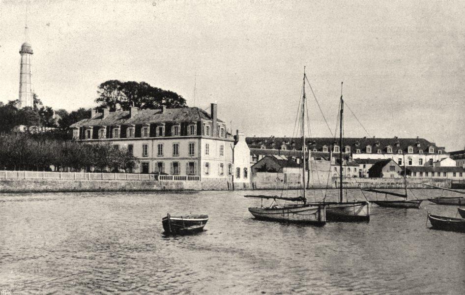 Associate Product MORBIHAN. Le port de commerce, à Lorient 1903 old antique print picture