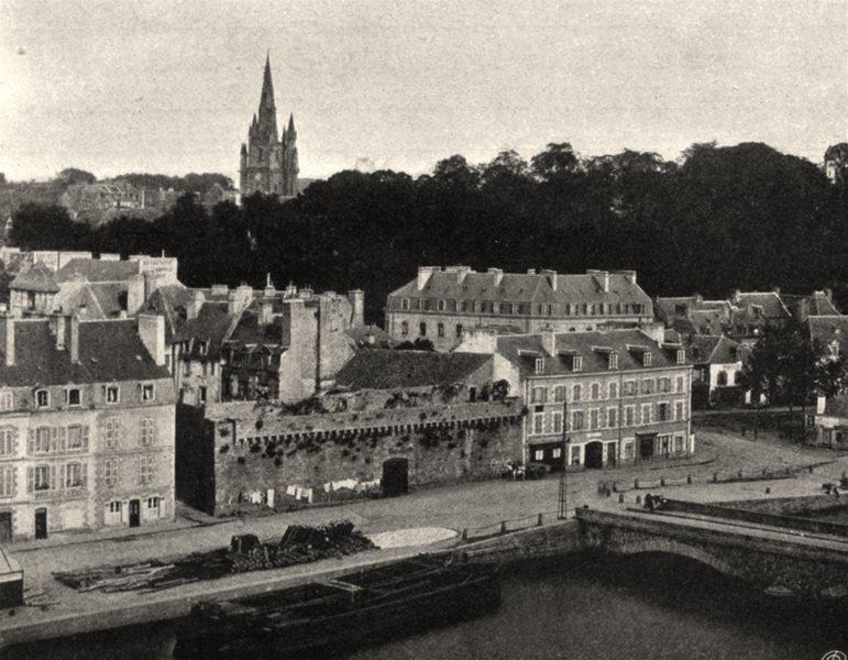 Associate Product MORBIHAN. Vue générale d'hennebont. SMALL. 1903 old antique print picture