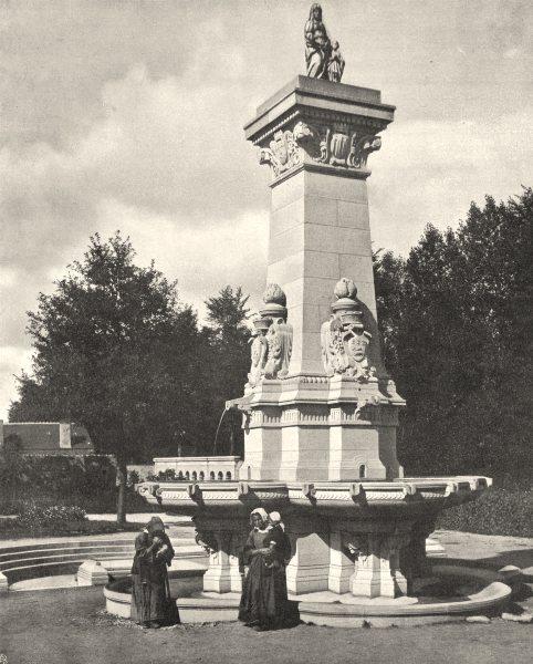 Associate Product MORBIHAN. La fontaine miraculeuse, à Sainte-Anne- d' Auray 1903 old print