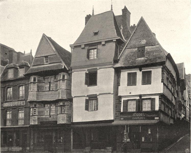 Associate Product CÔTES-D'ARMOR. Vieilles maisons, à Lannion 1903 old antique print picture