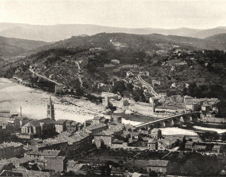 Associate Product ARDÈCHE. Pont- d'Aubenas 1903 old antique vintage print picture