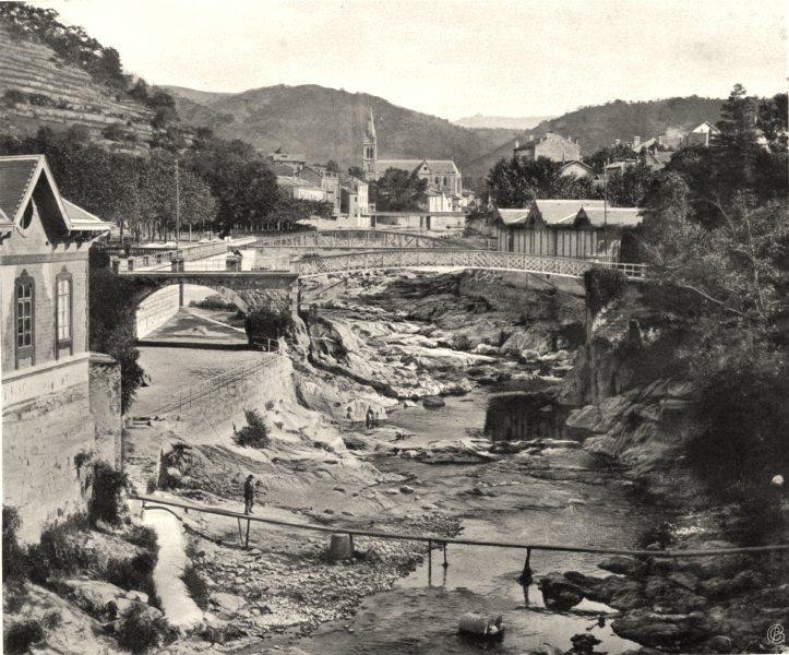 Associate Product ARDÈCHE. Vue générale de Vals-les-Bains 1903 old antique vintage print picture