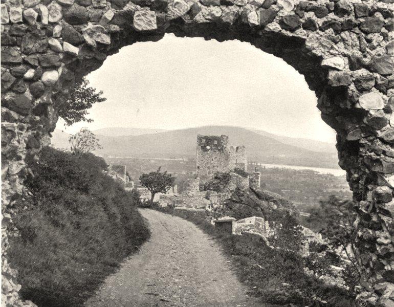 Associate Product ARDÈCHE. Ruines du chàteau de Rochemaure 1903 old antique print picture