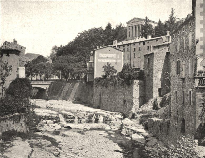 Associate Product ARDÈCHE. Largentière- Palais de justice 1903 old antique vintage print picture