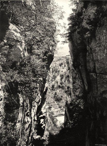 Associate Product ARDÈCHE. Bois de Païolive- la Gleyzasse 1903 old antique vintage print picture